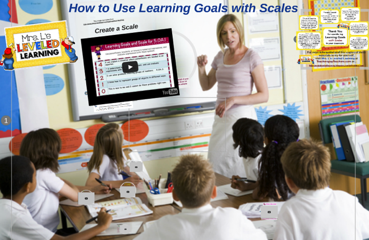 How to Use Learning Goals and Scales