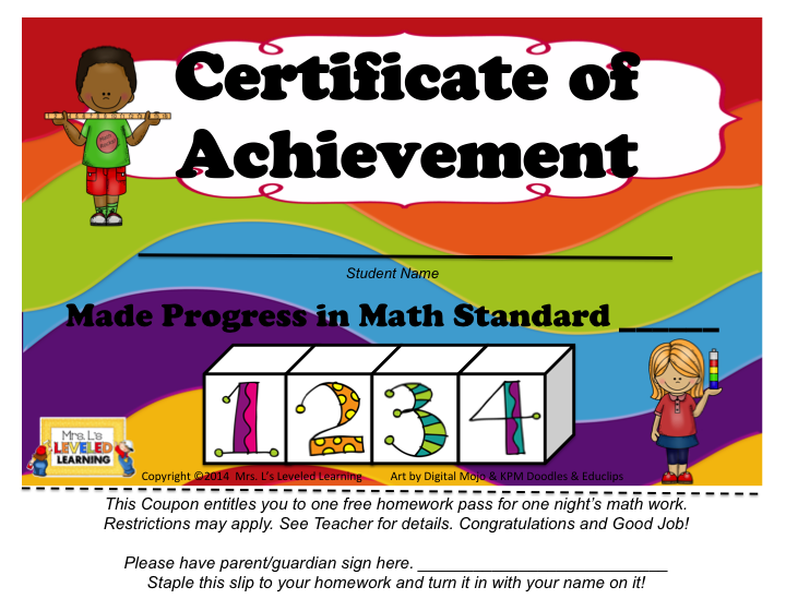 Free Certificates for Sharing Student Progress