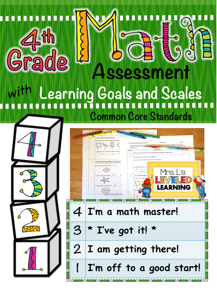 4th grade math assessment cover