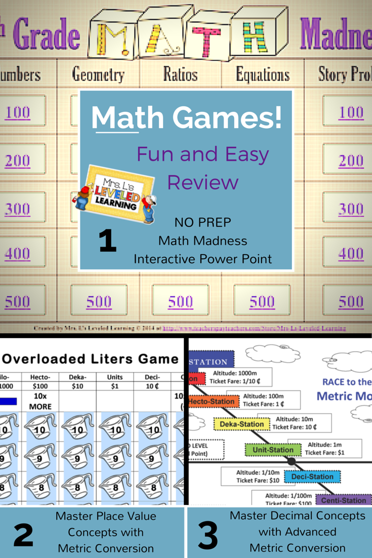 Math Games in the Classroom! FUN! FUN! FUN!