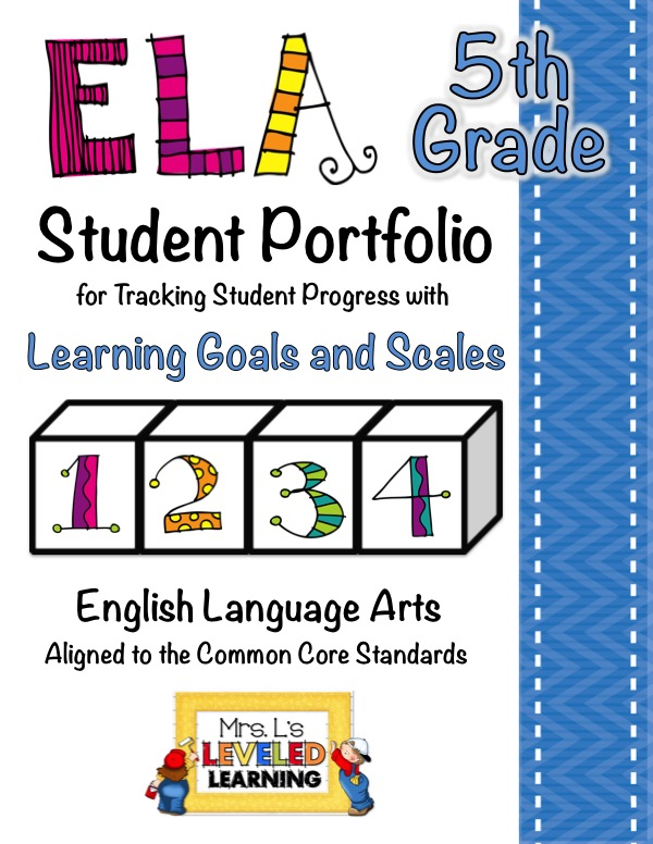 5th ELA Portfolio Pages