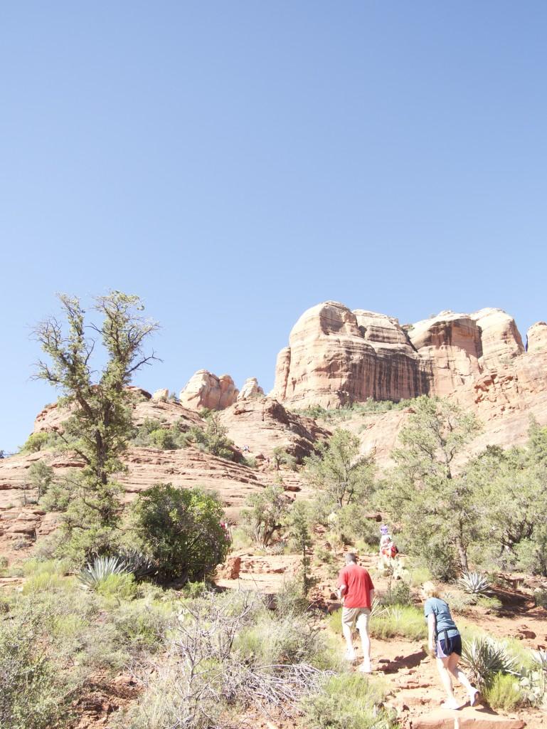 People climbing a mountain