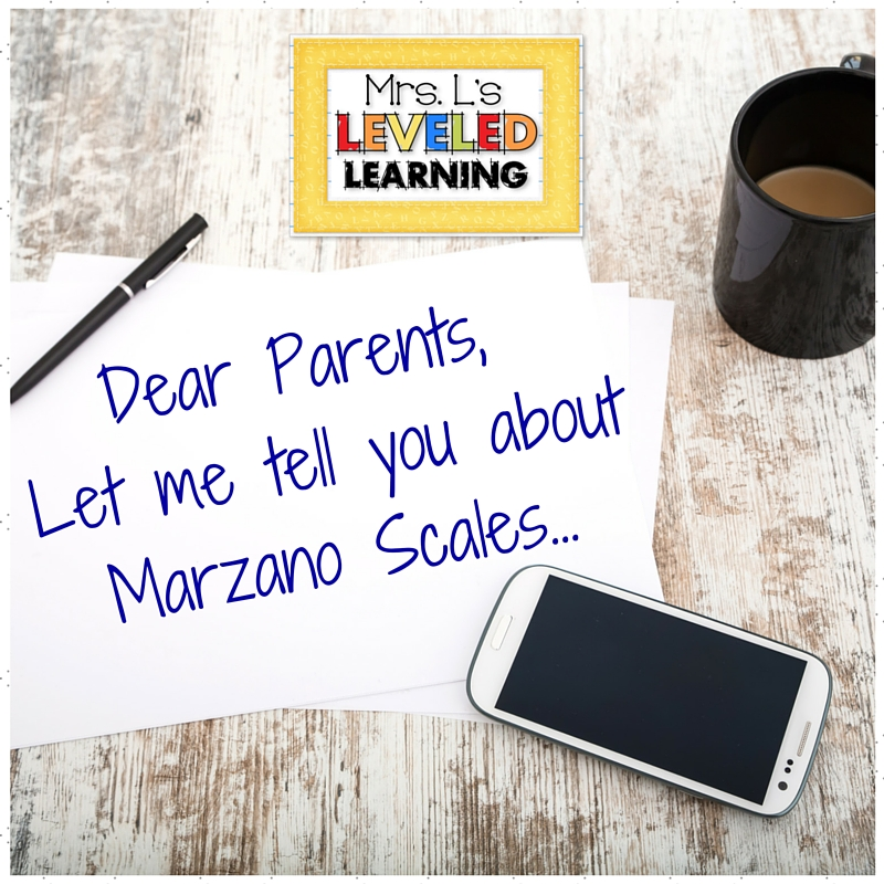 Grading Marzano Scales – Parent Communication