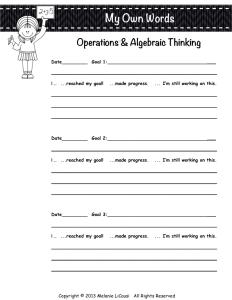 Student portfolio Reflection Sheet