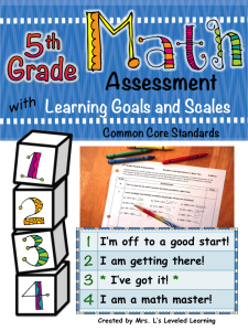 5th Math Assessment with Marzano Scales