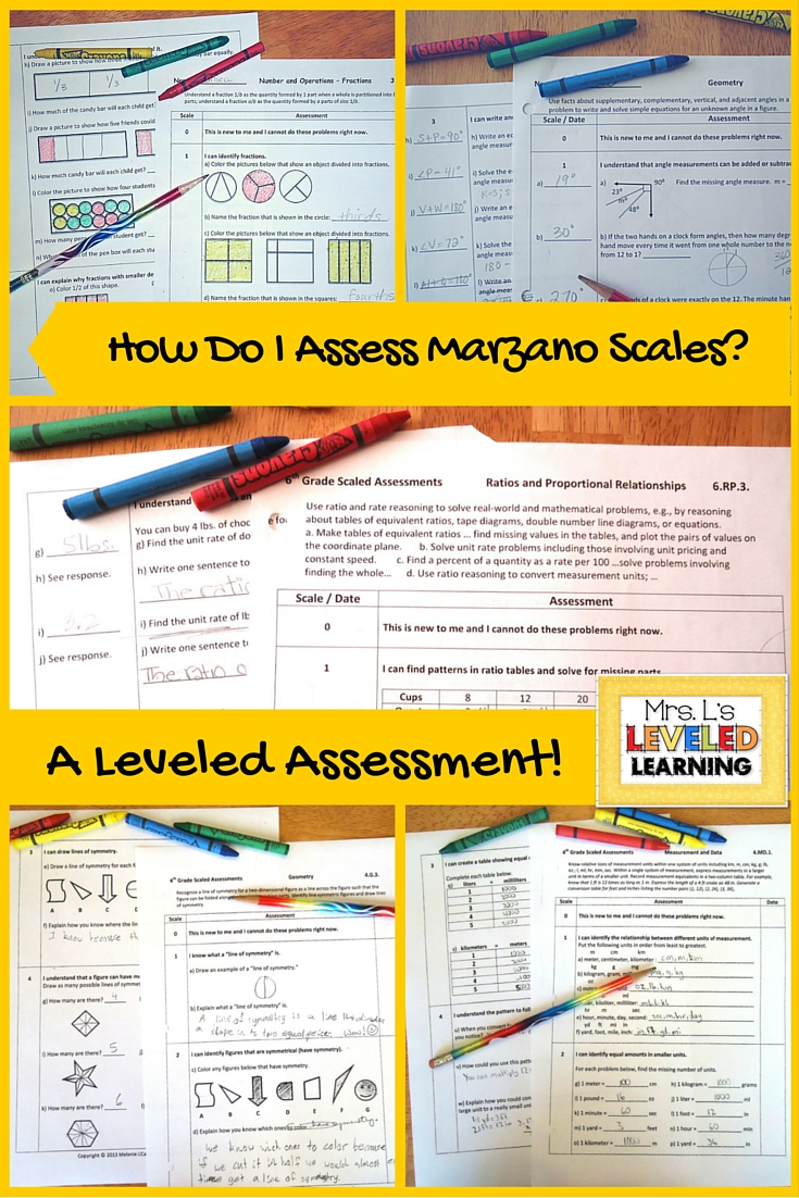 Formal Assessments for Marzano Scales