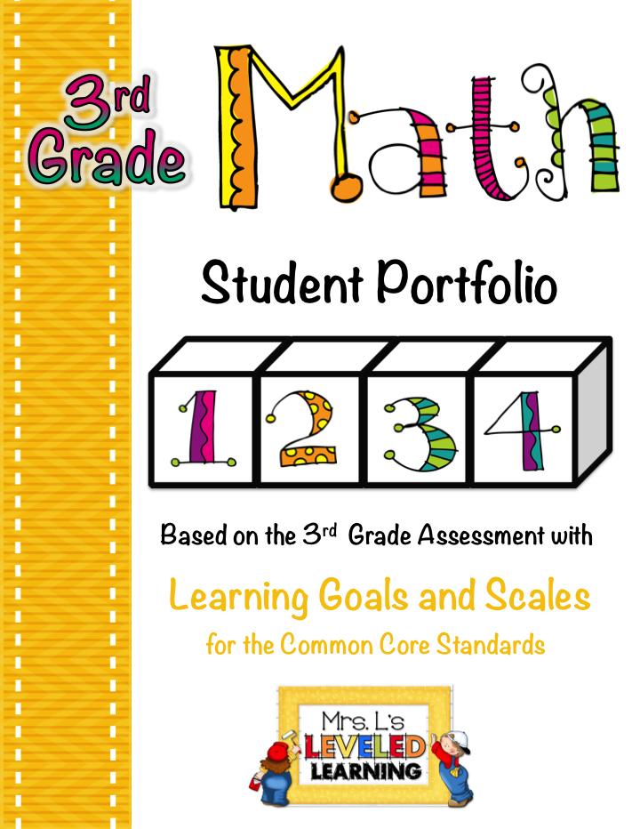3rd Math Marzano portfolio