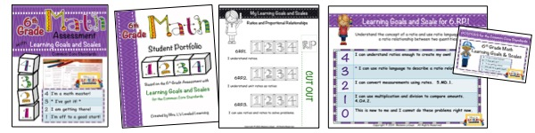 6th Grade Marzano Math Bundle