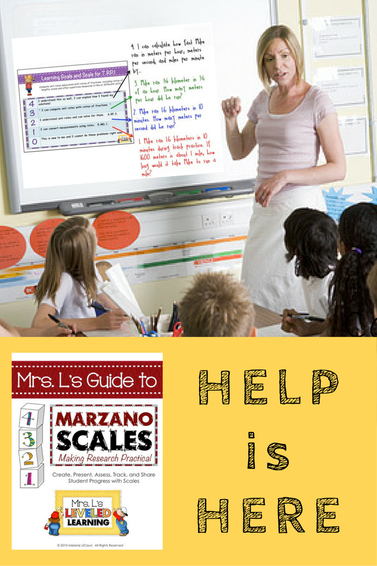 Mrs. L's Guide to Marzano Scales