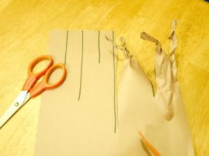 Paper Tree form cut and twist
