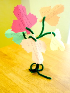 Thanksgiving Tree with pipe cleaners