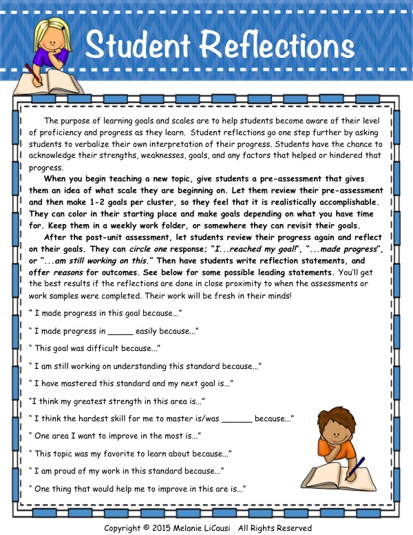 Student Goal-setting and Reflection Prompts