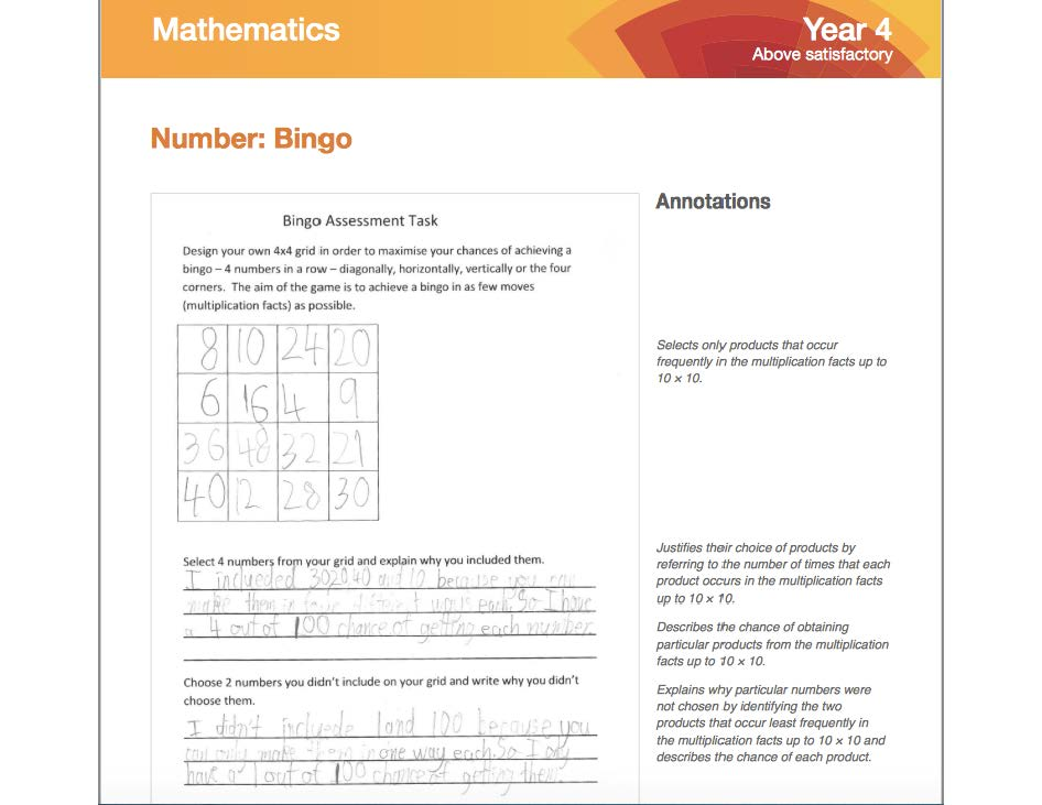 Australian Standards for Year 4 Number and Place Value