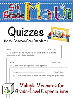 5th Grade Quiz Cover