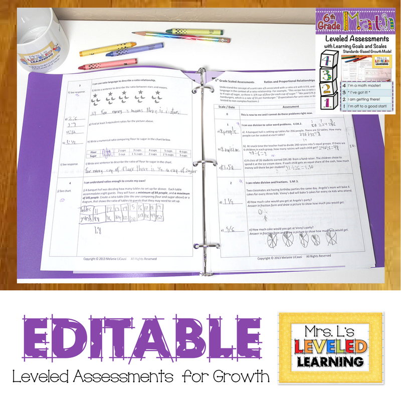 Math Assessments with Scales are Now Editable!