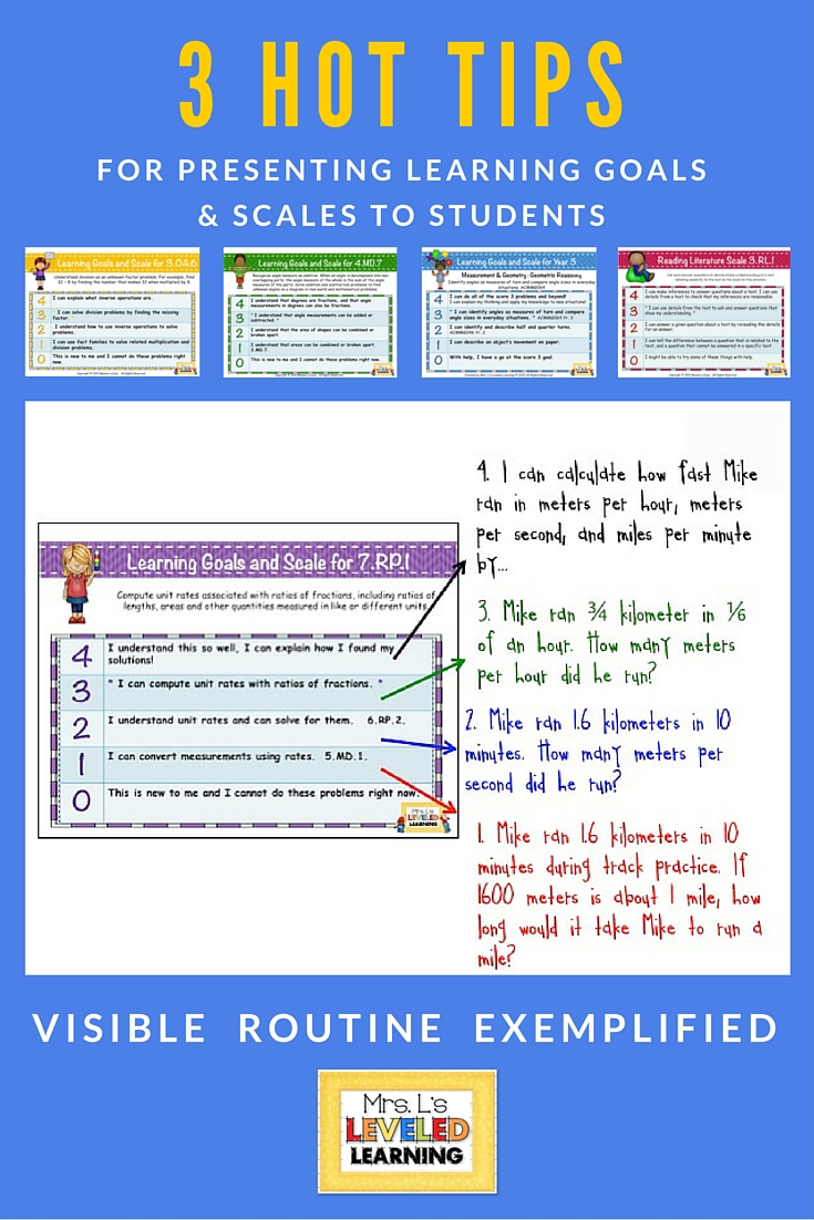 3 Hot Tips for Presenting Marzano Scales to Students
