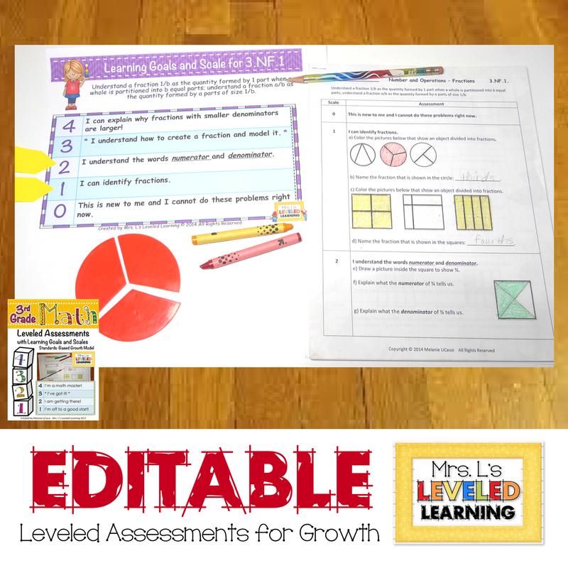 3rd Grade Editable Math Assessment