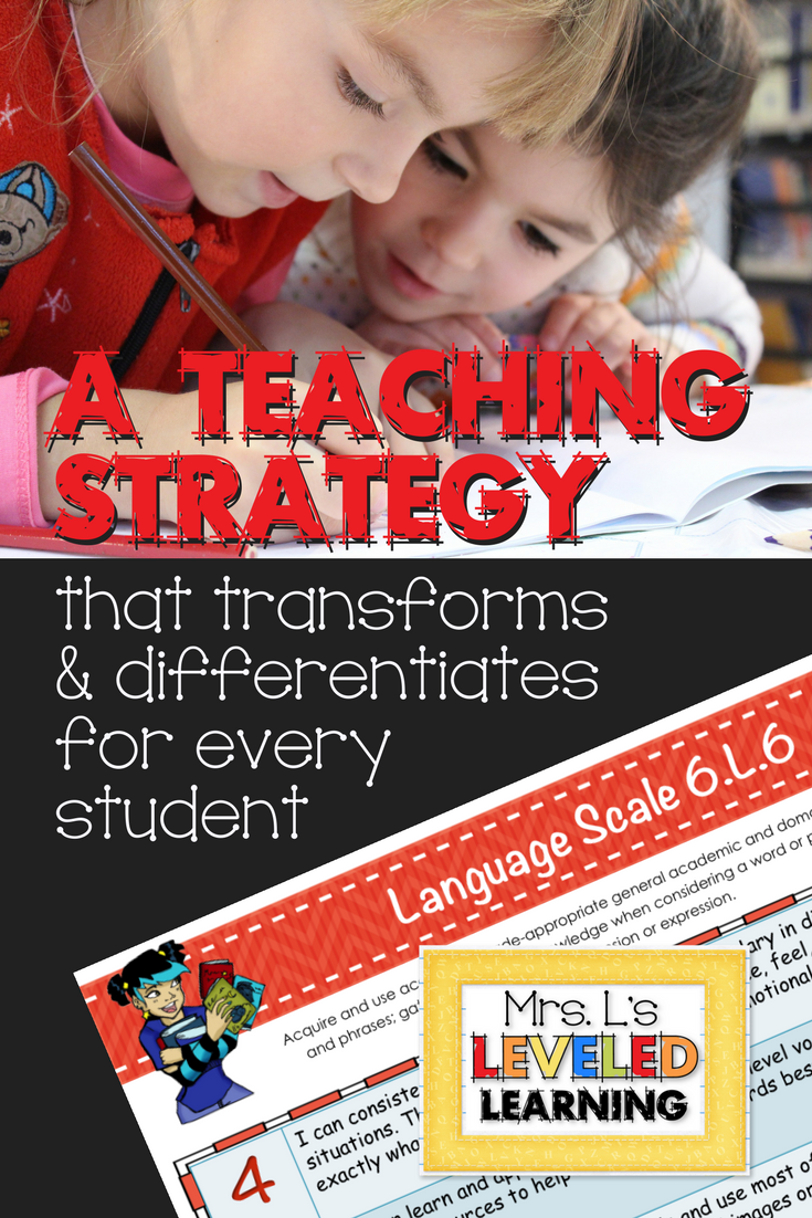 Transform Learning Standards into Outlines for Differentiation