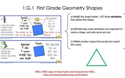 Differentiate First Grade Geometry with Proficiency Scales