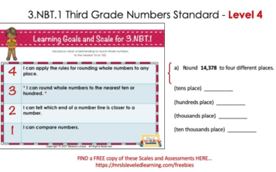 Differentiate Third Grade Number Sense with Proficiency Scales